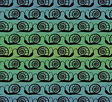 Pattern with snails by olgart