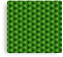 Green seamless geometric texture Canvas Print