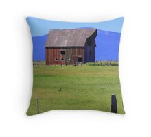 Fort Klamath Barn Throw Pillow