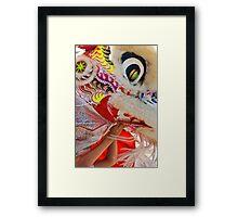 Nihonmachi Lion Dancer Framed Print