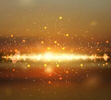 Abstract colorful bokeh background by lantica