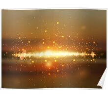 Abstract colorful bokeh background Poster