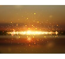 Abstract colorful bokeh background Photographic Print