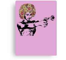 Flower power Girl Canvas Print