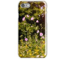 Pink Wild Flowers iPhone Case/Skin