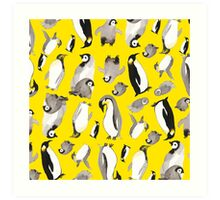 Yellow Penguin Potpourri Art Print