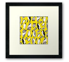 Yellow Penguin Potpourri Framed Print