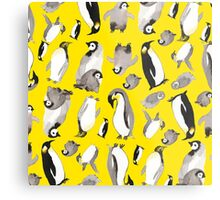 Yellow Penguin Potpourri Metal Print