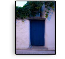 BLUE DOOR. Canvas Print