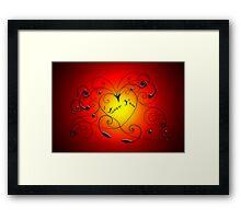 heart swirl Framed Print