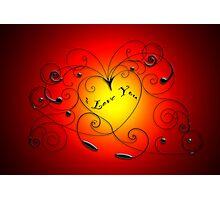 heart swirl Photographic Print