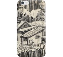 At home in a village with a pipe. iPhone Case/Skin