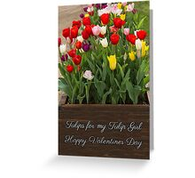 Valentine Tulips Greeting Card