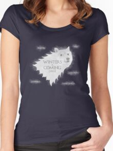 Winters a Coming Women's Fitted Scoop T-Shirt