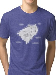 Winters a Coming Tri-blend T-Shirt