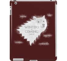 Winters a Coming iPad Case/Skin