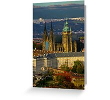 Prague Castle from the air Greeting Card