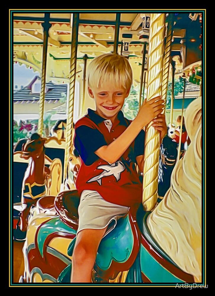 Carousel Cowboy by ArtByDrew