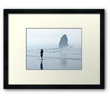 Arcadia Beach Mother & Child Framed Print