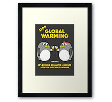 Global warming is ruining romantic moments Framed Print