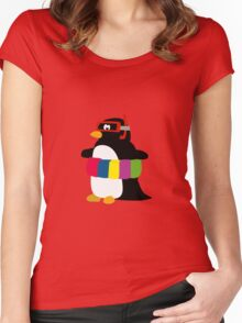The happy Pinguin Women's Fitted Scoop T-Shirt