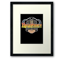 The Helmet of Justice Framed Print