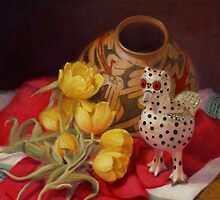 Tulips and Pottery by Donelli J.  DiMaria