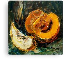 Space food. Pumpkin. Canvas Print