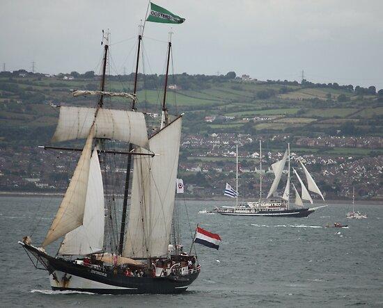 Oosterschelde and Capitan Miranda - Tall Ships Belfast by Philip Bateman