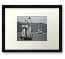 Oosterschelde and Capitan Miranda - Tall Ships Belfast Framed Print