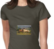Horses at Play Womens Fitted T-Shirt