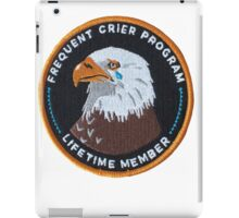 Frequent Crier Patch iPad Case/Skin