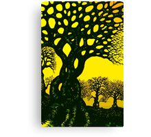 The Twisted Trees At Sunrise or Something To That Effect Canvas Print