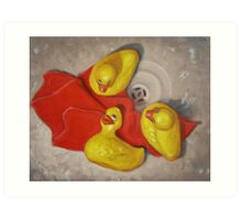 Three Rubber Ducks #1 Art Print