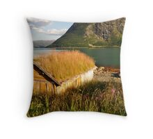 By the fjord Throw Pillow