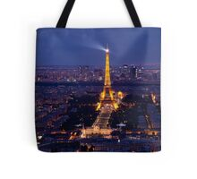 Eiffel Tower at twilight Tote Bag