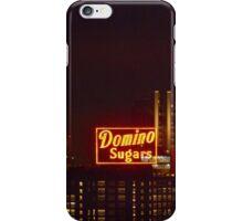 Domino Sugars Sign at Night iPhone Case/Skin