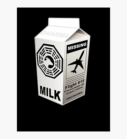 Dharma Initiative Missing Milk Photographic Print