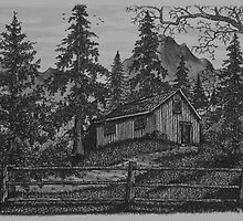 Old Woodsman Cabin by Jonathan Baldock
