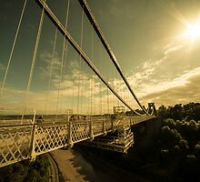 Clifton Bridge Sunset  by Rob Hawkins