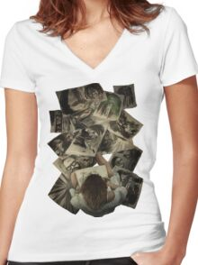 Zed's Drawings Women's Fitted V-Neck T-Shirt