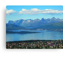 Looking Down on Tromso Canvas Print