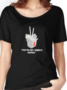 They're Only Noodles Michael Women's Relaxed Fit T-Shirt