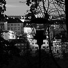 Old Town through the street lamp by Karel Kuran