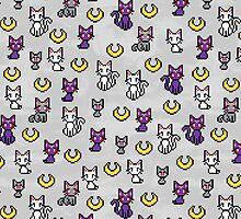 Sailor Moon Cats - Grey by uenki