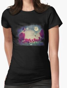 Fairy and Tulips Womens Fitted T-Shirt
