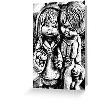 lil garden peops ... Greeting Card