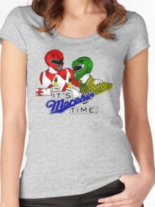"Mighty Morphin' Power Rangers (Jason & Tommy) ""It's Morphin Time"" Women's Fitted Scoop T-Shirt"