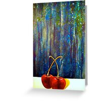 Cherries....On the Night Greeting Card