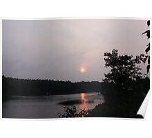 Sun setting Poster